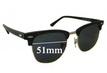 Ray Ban Clubmaster RB5154 Replacement Sunglass Lenses - 51mm wide