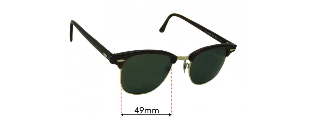 Sunglass Fix Replacement Lenses for Ray Ban WO366 Bausch Lomb - 49mm wide
