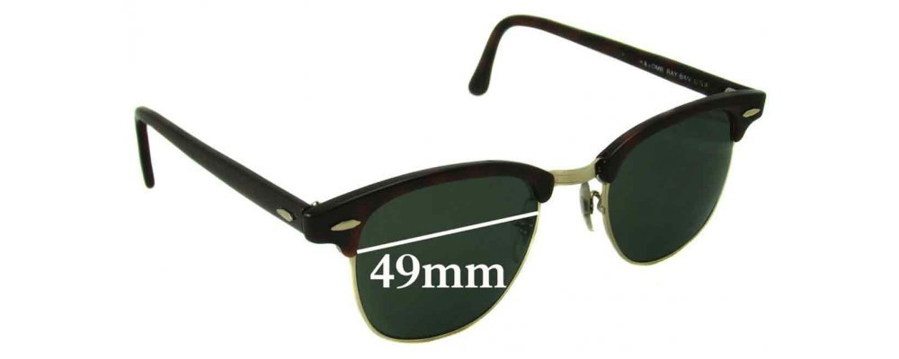 93cb79bf47cd2 Ray Ban WO366 Bausch Lomb Replacement Lenses - 49mm wide   Sunglass Fix