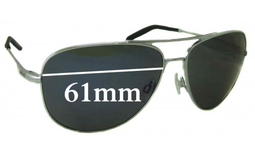 Sunglass Fix Replacement Lenses for Revo 3087 Windspeed - 61mm Wide