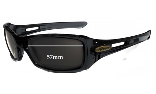 Revo 4039 Red Point Replacement Sunglass Lenses - 57mm Wide