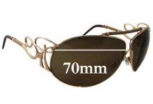 Roberto Cavalli CAMEIA 300S Replacement Sunglass Lenses - 70mm wide