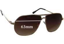 Rorgge 6812 Replacement Sunglass Lenses - 63mm Wide