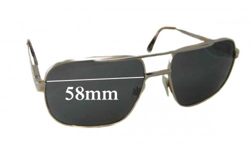 "Safilo ""Unknown Model"" Replacement Sunglass Lenses - 58mm wide"