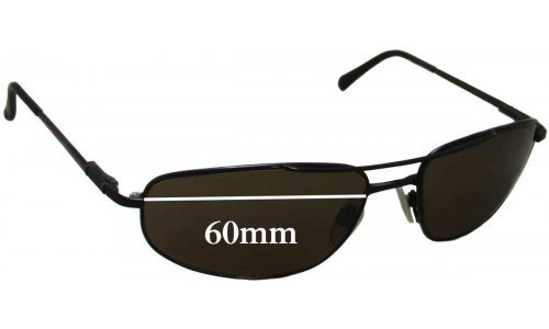 Serengeti Velocity All Models Replacement Sunglass Lenses - 60mm wide