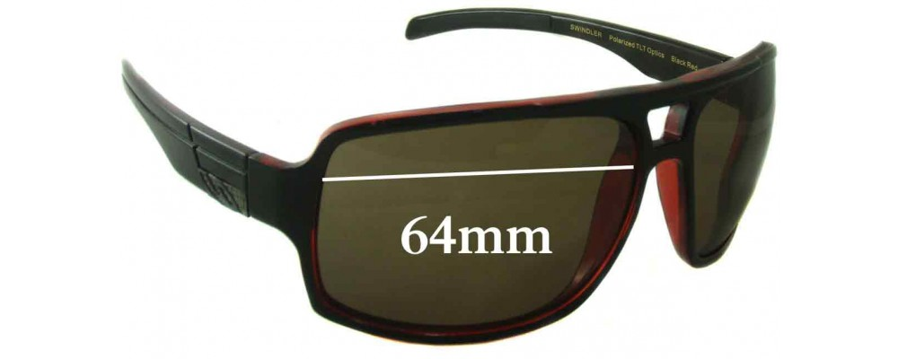 80394961ddb Smith Swindler Replacement Sunglass Lenses 64mm wide