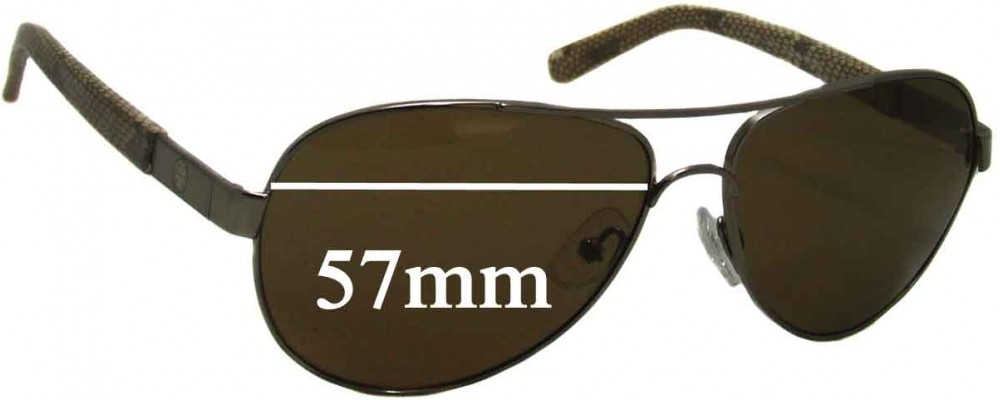 ce5667384d Tory Burch TY6010 Sunglass Replacment Lenses - 57mm Wide
