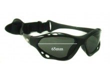 WaveShields Replacement Sunglass Lenses - 65mm wide