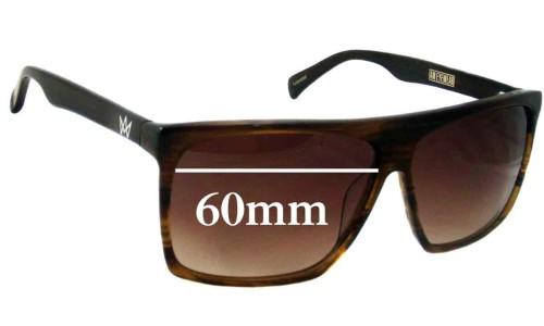 SFX Replacement Sunglass Lenses fits AM Eyewear Cobsey 60mm Wide