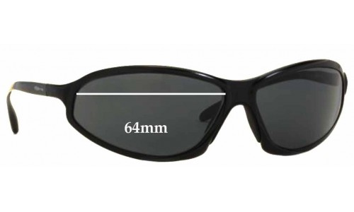 Arnette AN3041 Metal Replacement Sunglass Lenses - 64mm wide
