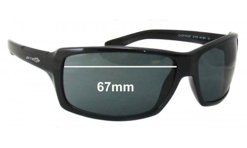 Arnette Chop Shop AN4172 Replacement Sunglass Lenses - 67mm Wide
