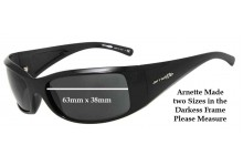 Arnette AN4121 Darkness New Style Post 2010 Replacement Sunglass Lenses - 63mm wide X 38mm Tall