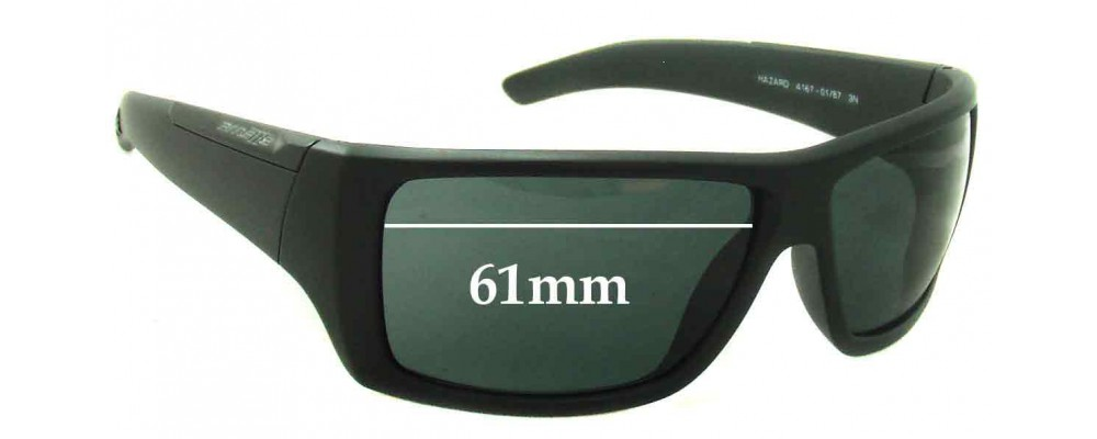 Arnette Hazard AN4167 Replacement Sunglass Lenses - 61mm Wide