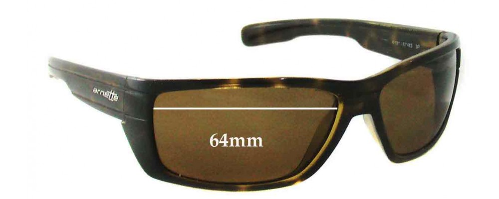 Arnette Peril AN4131 Replacement Sunglass Lenses - 64mm Wide