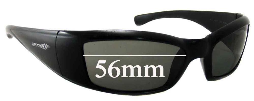 Arnette RAJ1586AA Replacement Sunglass Lenses 56mm wide
