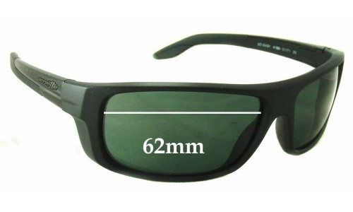 Arnette AN4159 So Easy Replacement Sunglass Lenses - 62mm Wide