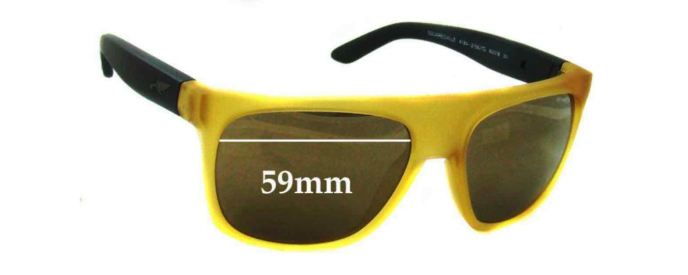 Arnette Squaresville AN4184 Replacement Sunglass Lenses - 59mm Wide