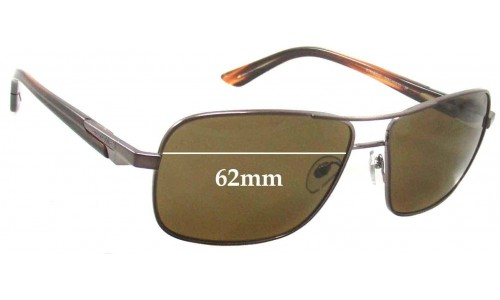 Sunglass Fix Replacement Lenses for Arnette Stakeout AN3062 - 62mm Wide