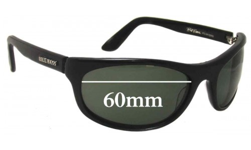 Bill Bass Replacement Sunglass Lenses 2383 - 60mm Wide