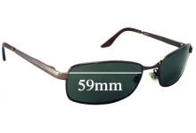 Bill Bass Unidentified Replacement Sunglass Lenses - 59mm wide