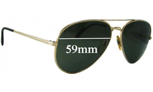 Bolle 5501 Aviator Replacement Sunglass Lenses - 59mm wide