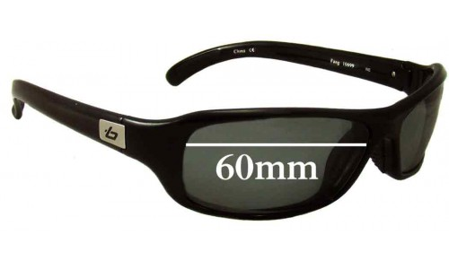 Bolle Fang 10699 Replacement Sunglass Lenses 60mm wide