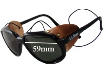 49d89b39c50 Bolle Vuarnet L.L.Bean Glacier Aviator Replacement Sunglass Lenses 59mm wide