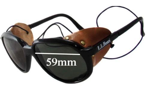 Bolle/Vuarnet L.L.Bean Glacier Aviator Replacement Sunglass Lenses 59mm wide