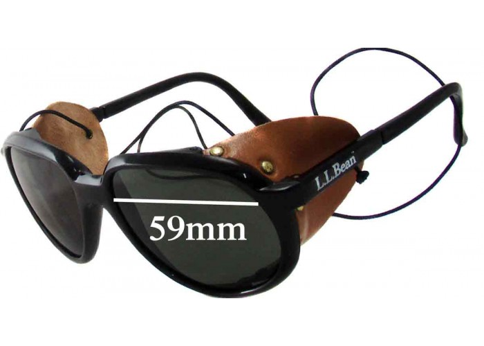 SFX Replacement Sunglass Lenses fits Bolle Python 67mm Across
