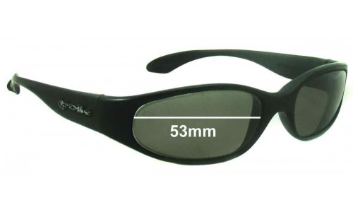 Bolle Orvet Replacement Sunglass Lenses - 53mm wide oval shaped