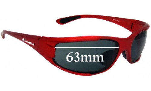 Bolle Turbulence Replacement Sunglass Lenses - 63mm Wide