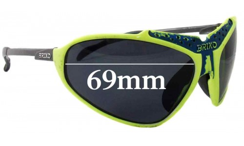 Briko Stinger Replacement Sunglass Lenses - 69mm Wide