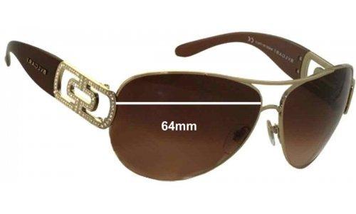Bvlgari 6012B Replacement Sunglass Lenses 64mm wide