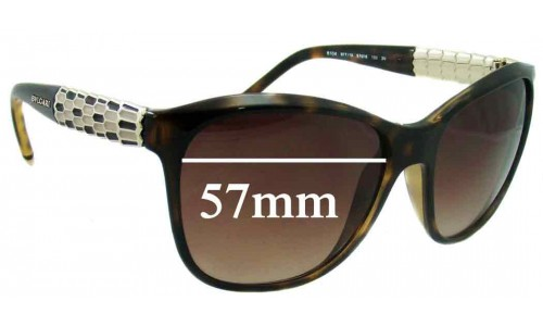 Bvlgari 8104 Replacement Sunglass Lenses 57mm wide