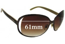 Calvin Klein R334S Replacement Sunglass Lenses - 61mm wide