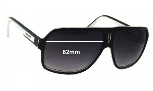 Sunglass Fix Replacement Lenses for Carrera 27-S - 62mm wide