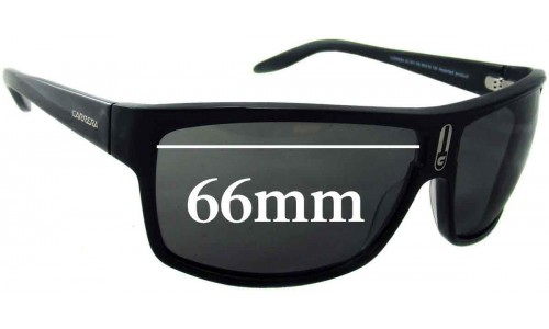 Carrera 62 Replacement Sunglass Lenses - 66mm wide