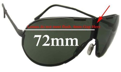 Sunglass Fix Replacement Lenses for Porsche Design By Carrera 5629 - 72mm Wide