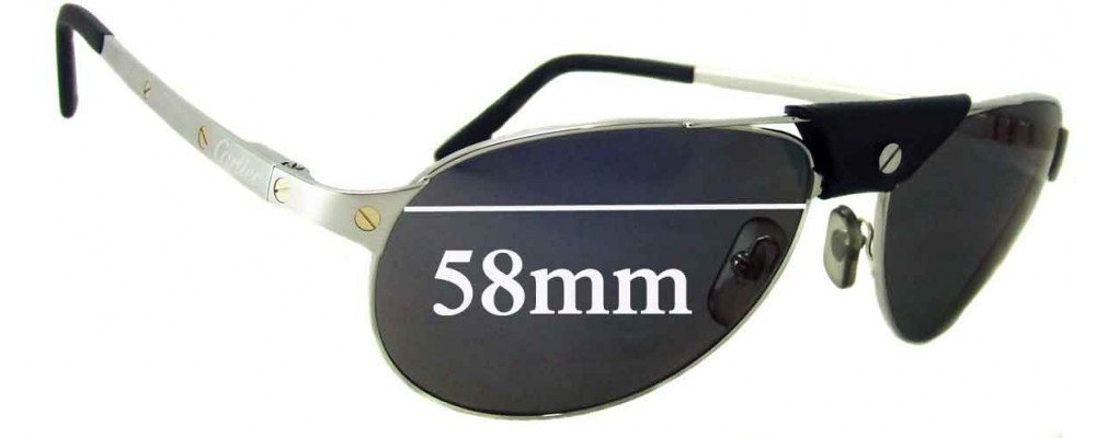a0d15b3f37a Cartier Santos-Dumont Replacement Lenses - 58mm wide