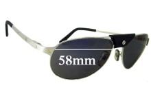 Cartier Santos-Dumont Replacement Sunglass Lenses - 58mm wide