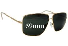 Celine CL 41488 Replacement Sunglass Lenses - 59mm Wide