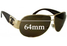 Chanel 4128 Replacement Sunglass Lenses - 64mm wide
