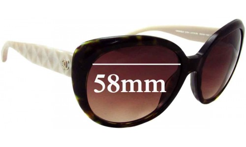 Chanel 5184 Replacement Sunglass Lenses - 58mm wide
