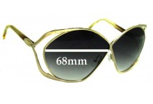 Christian Dior Replacement Sunglass Lenses 2056 Vintage Butterfly - 68mm Wide