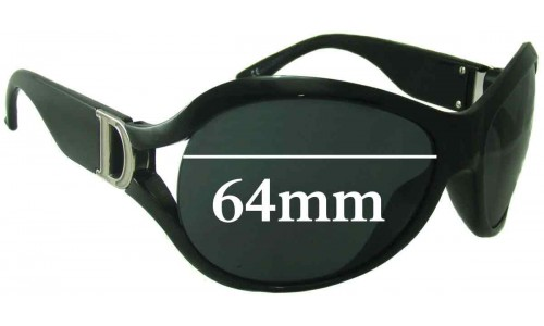 Christian Dior DIOR PROMENADE 1 Replacement Sunglass Lenses - 64mm Wide