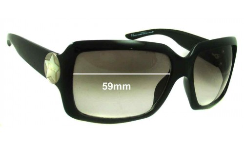 Christian Dior Starshine 1584 Replacement Sunglass Lenses - 59mm Wide