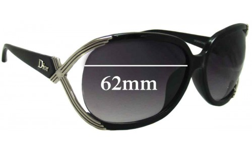 Christian Dior Sydney Replacement Sunglass Lenses - 62mm Wide