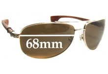Chrome Hearts The Beast II Replacement Sunglass Lenses - 68mm wide