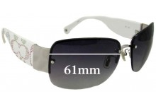 Coach Charlee S342 Replacement Sunglass Lenses - 61mm wide