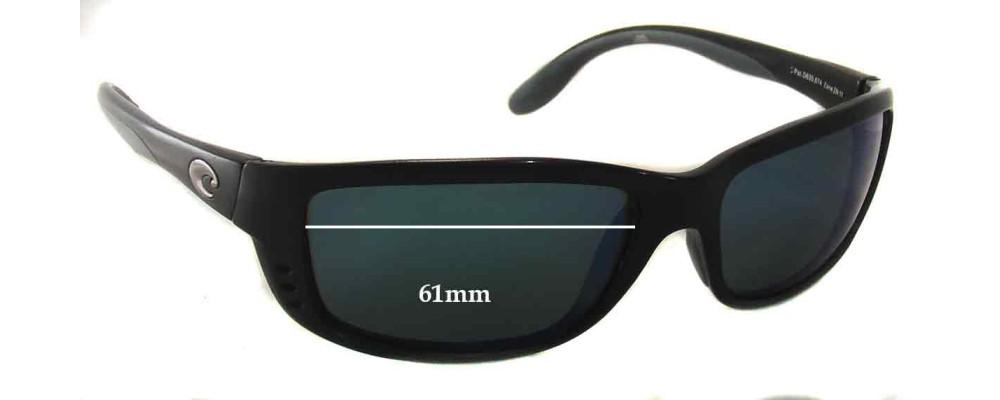 3f34779002e1e Costa Del Mar Zane ZN11 Replacement Sunglass Lenses - 61mm Wide